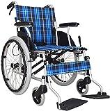 SOAR Silla de ruedas plegable Silla de ruedas, silla de viaje portátil ligero de transporte plegable de aleación de aluminio marco de la silla de ruedas adecuado for personas mayores Personas con disc