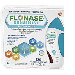 Flonase Sensimist Nasal Spray for Allergy Relief, 24-Hour Non-Drowsy Allergy Medicine, 120 Sprays, 0