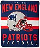 Officially Licensed NFL New England Patriots 'Singular' Printed Fleece...