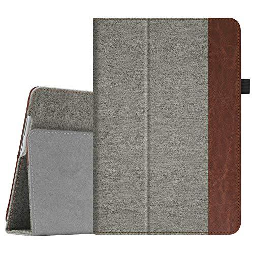 Fintie Hülle Hülle für Huawei MediaPad M5 Lite 10 - Ultra Schlank Folio Stoff Schutzhülle mit Auto Sleep/Wake Funktion für Huawei MediaPad M5 Lite 10 10.1 Zoll 2018 Tablet PC, Denim grau