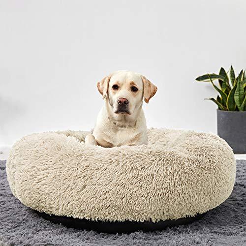ANWA Rundes Hundebett, waschbar, für große Hunde, Donut-Hundebett, mittelgroß, bequem, beruhigend