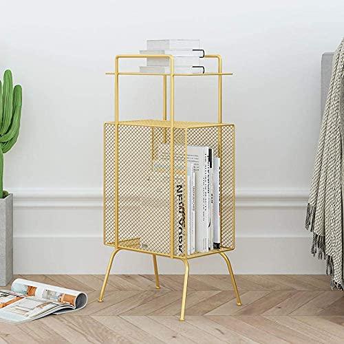 N/Z Home Equipment Frame Nachttisch Moderner Couchtisch Wohnzimmer Beistelltisch Lagerregal Nachttisch Nachttisch Zeitungsständer Eck Beistelltisch Nordic Home Furniture Black