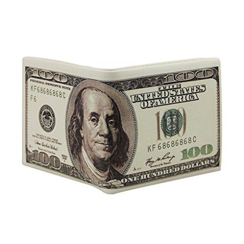 Vintage Geldbörse Portemonnaie Lederbörse Herren Damen Börse US-Dollar Stil Geldtbeutel Brieftasche Kreditkartenetui