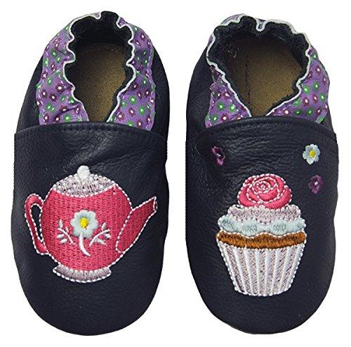 Rose & Chocolat Chaussures Bébé Sweet Tea Bleu Taille 24/25 cm 18-24 Mois