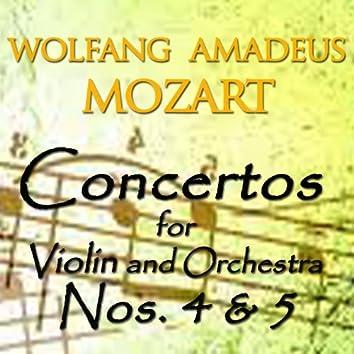 Mozart: Concertos for Violin and Orchestra No. 4 & 5