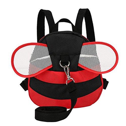 Demarkt–Baby abeja alas Seguridad Mochila con cinturón de seguridad anti pérdida 20x 8x 22cm Rojo