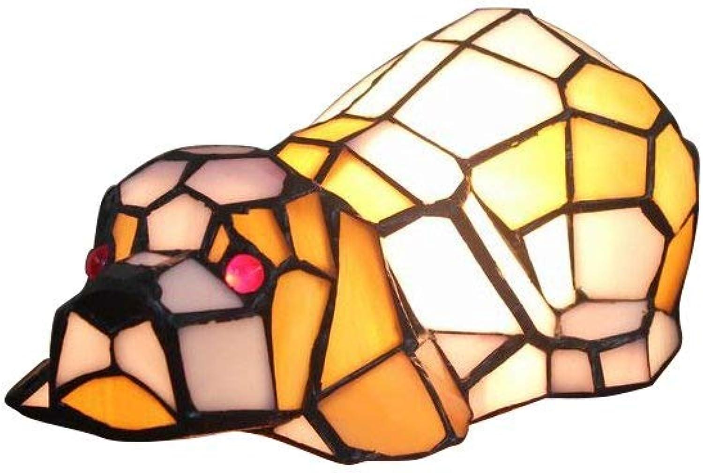 FJY Nachtlampe Dog Pattern Tischlampe for Kinderzimmer Schlafzimmer Wohnzimmer