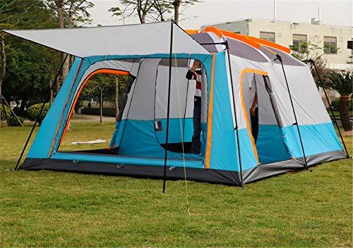 Goushi Tienda de campaña para 4-6 Personas al Aire Libre, Dos Habitaciones, una Sala, Doble Capa, para Varias Personas, Camping, Tienda de campaña a Prueba de Lluvia, Espesada, montañismo