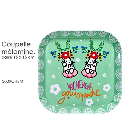 Fox Trot - 3009CHEM - COUPELLE Carree 15 X 15 CM Decor VACHEMENT Fleur
