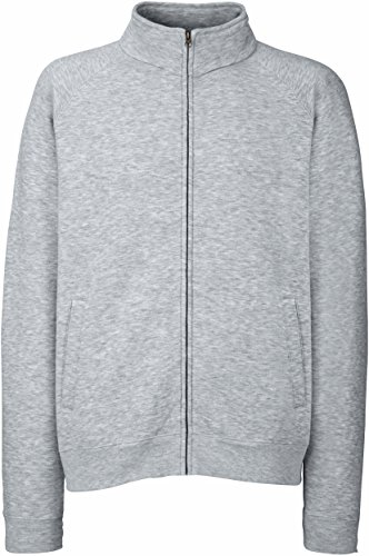Fruit of the Loom Premium Sweat Jacket Blouson de sport, Gris (Heather Grey 123), XL Homme