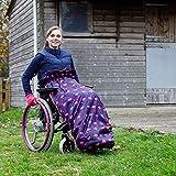 Cosy - Saco impermeable para sillas de ruedas - Para adultos - Con forro polar - Universal Fácil de ajustar. Viene en una bolsa compacta para guardarlo cómodamente - Flamencos - Azul marino