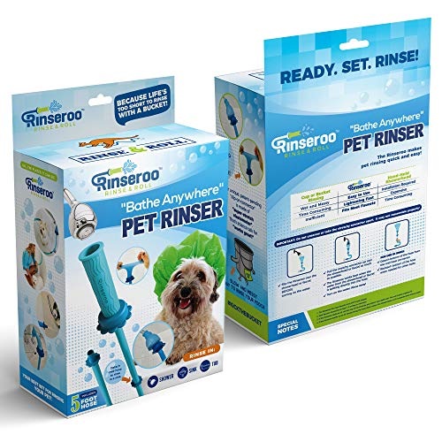 Rinseroo: Slip-on, No-Install, Dog Wash Hose Attachment. Pet - Import It All