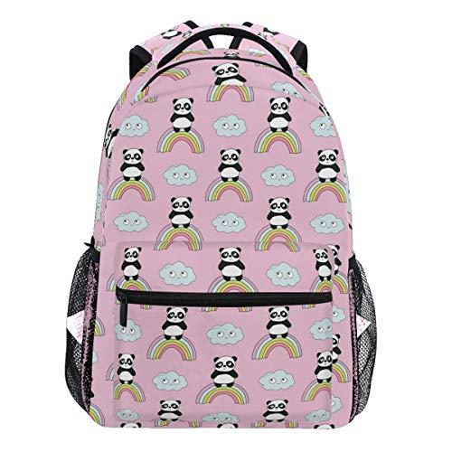 Oarencol - Mochila con diseño de panda y arcoíris, color rosa