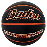 Baden Crossover Flex Composite Basketball, Black/Orange, 28.5 inch