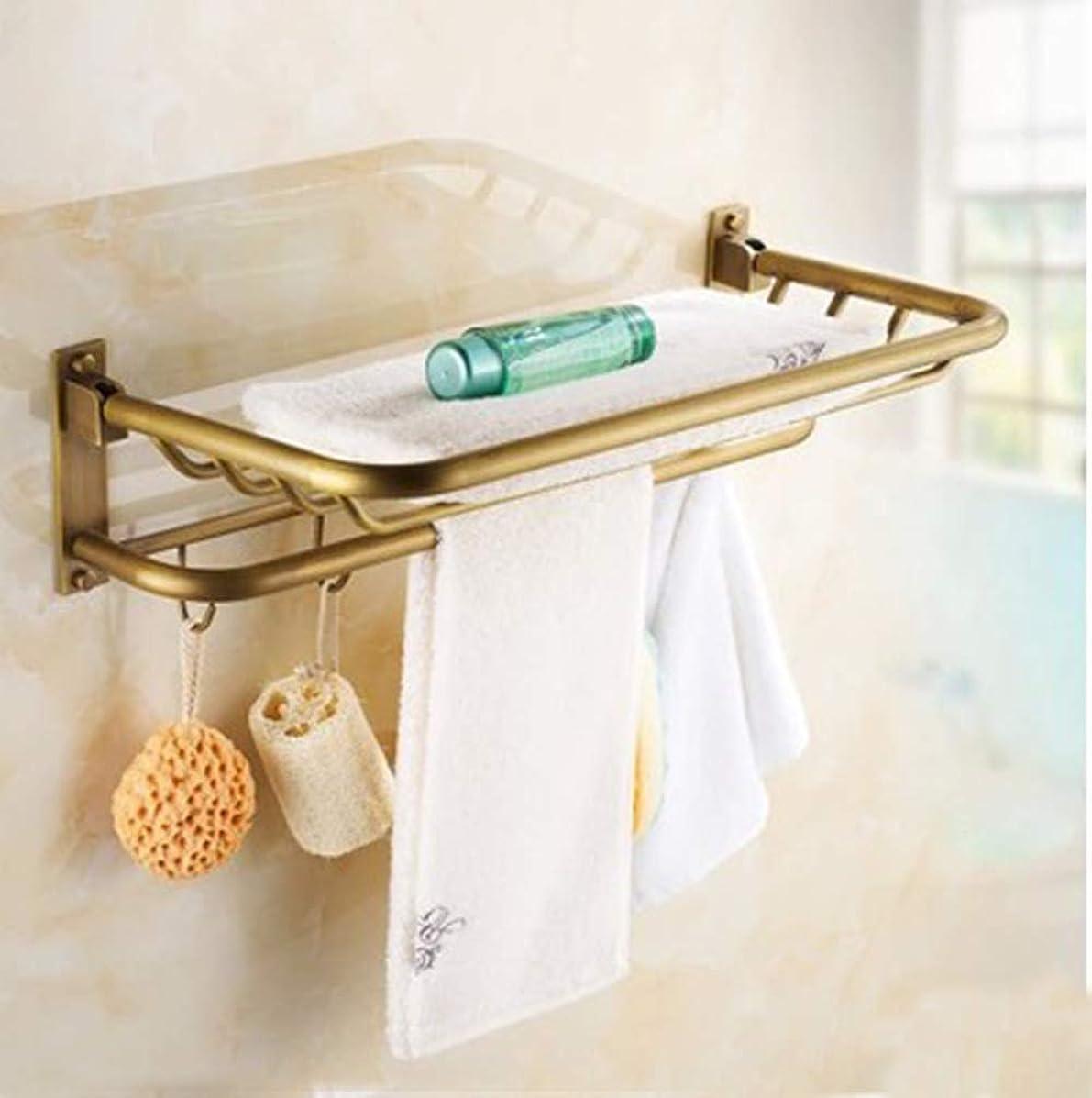回転するバッジ叱るアメリカのアンティーク格好良いバスルームタオルラックバスルームトイレバスルームハードウェアペンダントセット (Beauty mirror)