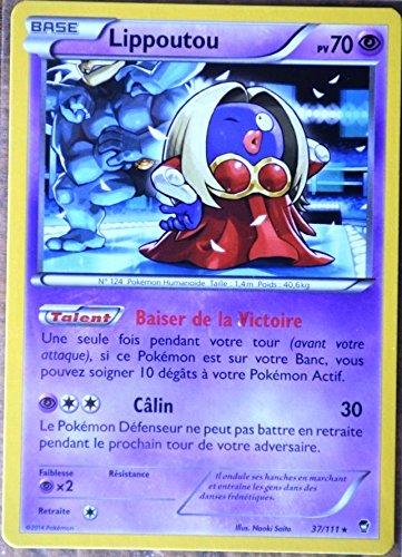 carte Pokémon 37/111 Lippoutou 70 PV RARE XY03 XY Poings Furieux NEUF FR