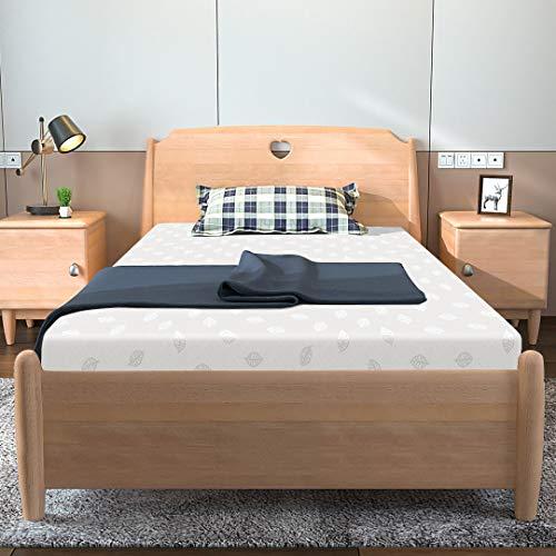 Kono Single Mattress, Memory Foam Mattress, 3FT Single Comfort Rolled Foam Mattress 11cm Depth Medium Soft, Single(90 x 190 cm)