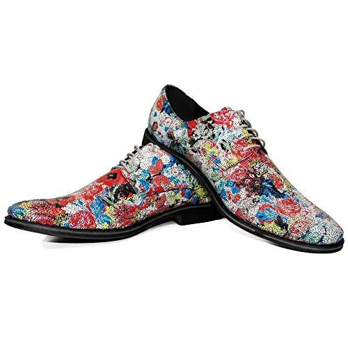 Modello LSD - EU 44 - US 11 - UK 10-29 cm - Handgemachtes Italienisch Bunte Herrenschuhe Lederschuhe Herren Mehrfarbig Oxfords Abendschuhe Schnürhalbschuhe - Rindsleder Weiches Leder - Schnüren