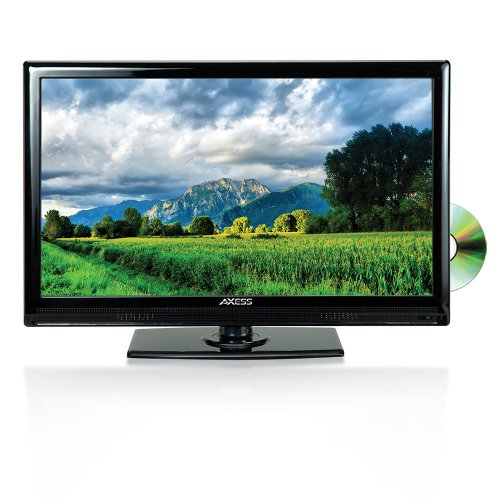 Axess 15.6-Inch LED HDTV, Includes AC/DC TV, DVD Player,...
