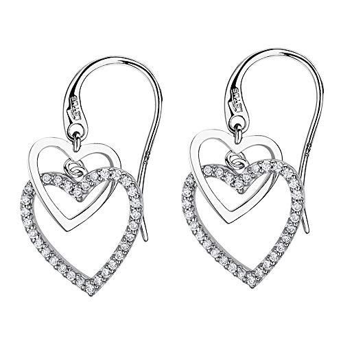 Lotus Silver Orecchini a forma di cuore in argento LP1817-4/1 con zirconi JLP1817-4-1
