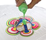 Acryl Pouringset 6 x 100 ml in NEON-Farben, gebrauchsfertige Acrylfarben mit eingemischtem Pouringmedium, Gießfarbe, Gießmedium, Fließtechnik - 3