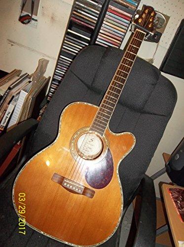Samick Greg Bennett Design OM8CE Acoustic Guitar, Natural