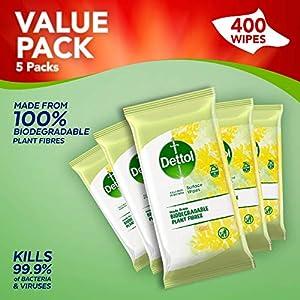 Dettol – Salviette biodegradabili multiuso agli agrumi, 80 unità