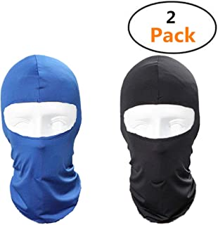 TianJi 2 Pack Balaclava Dust Proof Windproof Mask ski mask Shield Protective Neck Warmer Motorcycle Bicycle Bike Face Mask for Cycling Hiking Hunting Motorcycling Camping