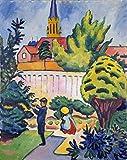 Kunstdruck/Poster: August Macke Kinder im Garten -