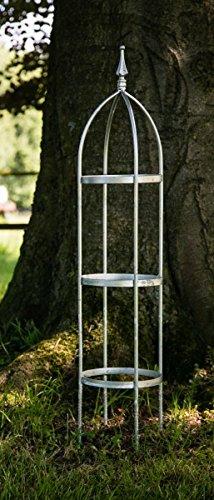 KUHEIGA Verzinkte Rankhilfe aus 10mm Höhe 120cm Volleisen Obelisk Rankgerüst ZINK