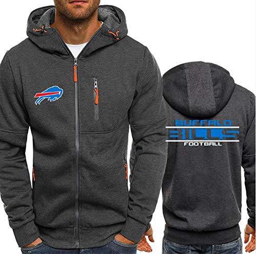 CCKWX NFL Hoodie – Buffalo Bills American Football Trainings-Sweatshirt, Unisex, warmes Fleece L