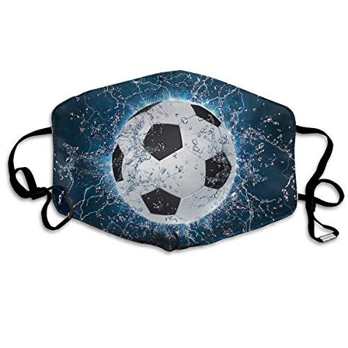 Multifunktionale Gesichtsschutzhülle,Wasser Fußball Muster Gedruckt Unisex Waschbar Wiederverwendbare Gesichtsdekorationen Für Den Persönlichen Schutz