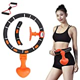 Fitness Hula Hoop Adults Kids with LCD Smart Counter Never Dripping Sports Hula Hoop Detachable Belly Fat Burning Hula Hoop Slimming Waist Indoor &Outdoor Exercise Equipment (Waistline 23' to 40')