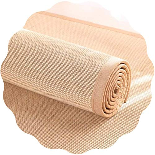 FZYE Alfombra de bambú, cómodas Alfombrillas de Verano Antideslizantes de 13 mm de Grosor, Alfombra Tejida Natural para la Zona de meditación de la Sala de té de la Oficina, 2 Colores,