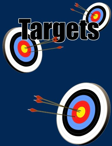 Targets Goals and Achievements Composition Notebook 7.44x9.69 Dk Blue 4x4 Quad: Blank 4x4 Quad Grid Graph Pages for Targets, Goals, Notes, Bullet ... Designs, and Plans. Exercise Book or Journal.