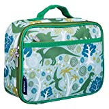 Wildkin Insulated Lunch Box Bag for Boys and Girls Perfect Size for Packing Hot or Cold Snacks for School and Travel, Mom's Choice Award Winner, BPA-free, Olive Kids, Dinomite Dinosaur