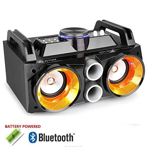 Pair of Fenton Bookshelf Speakers with AV320BT Bluetooth Stereo Amplifier