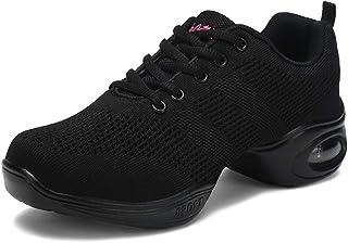 comprar comparacion Mujer Dance Fitness Sneakers Aumento Entrenadores Transpirables Fondo Ligero Antideslizante Resistente Desgaste Zapatos Ba...