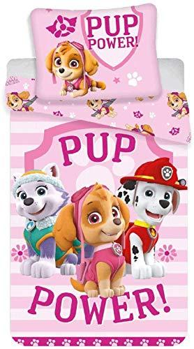 Jerry Fabrics Paw Patrol Pup Power - Juego de Funda de algodón
