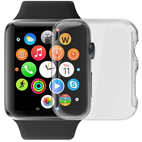 Luvvitt Apple Watch Series 2 custodia, [super Easy] protezione schermo integrata snap-on custodia rigida cover per Apple Watch – Clear 38 mm