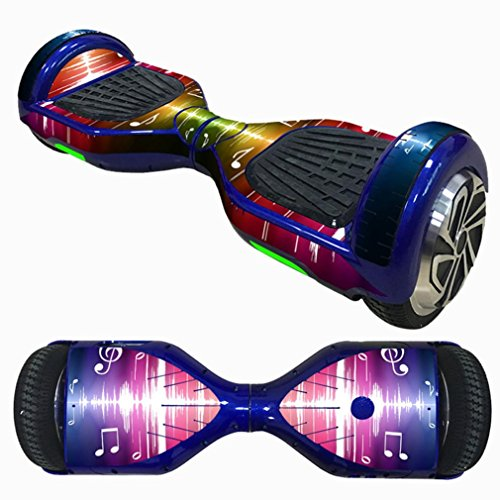 Gaddrt - Adhesivo para monopatín (autoequilibrante, para patinaje eléctrico, 2 ruedas), diseño de patines