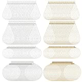160PCS Beading Hoop Earring Finding Component Accessories with Loop Jewelry Finding for Earring Jewelry Making Earring DIY Craft,Teardrop and Round(Gold/Silver), 4 Size