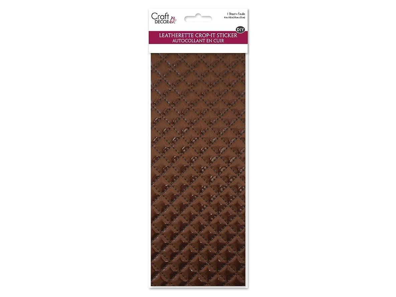 Craft Décor CD220D DIY Crop-It Leatherette Self-Adhesive, Brown