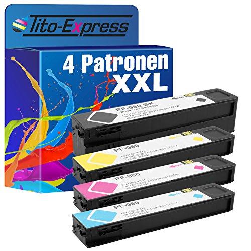 Tito-Express PlatinumSerie 4 cartuccia XXL COMPATIBILE PER HP 980XL Magenta inchiostro a pigmenti Officejet Enterprise color Flow X 585 Z MFP x 550 Series X 555 DN X 555 XH X 580 Series X 585 DN MFP