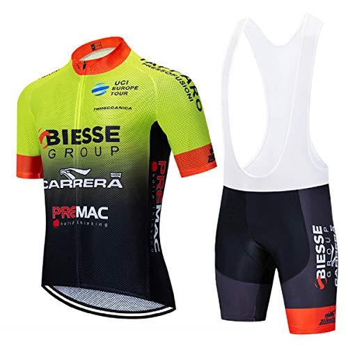 Bike Completo Ciclismo Uomo, Maglie Ciclismo Uomo con Striscia Riflettente e Gel Padded Salopette Ciclismo, MTB