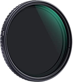 K&F Concept 62mm ND8 to ND128 Variable Neutral Density Filter Slim Fader ND Filter 3 Stop to 7 Stop ND8-ND128 for Camera L...