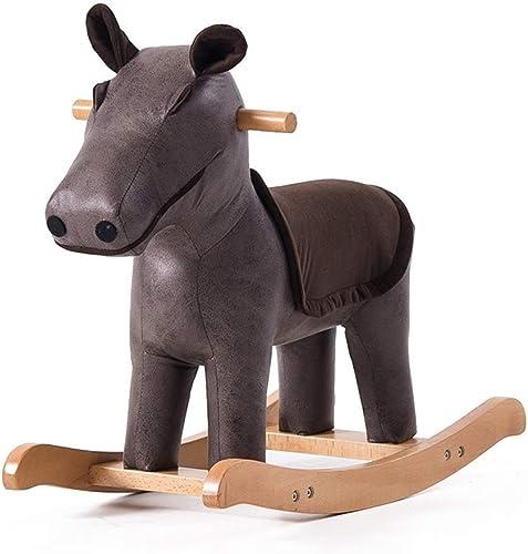 suministro directo de los fabricantes WHTBB Rocking Horse Animal Adventure, Mecedora de de de Peluche de Madera Real, Mayores de 3 años  buena calidad