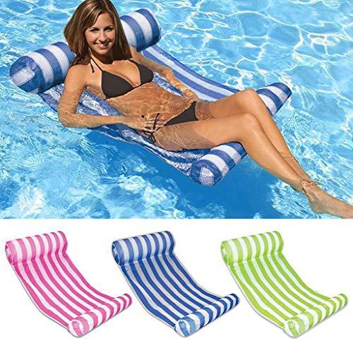 Kayak Lit de piscine inclinable flottant hamac gonflable 筏 piscine air léger chaise flottante compact portable tapis de piscine adapté pour les adultes et les enfants sports nautiques Pêche, sports de