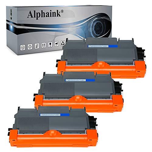 Alphaink 3 toner compatibile con Brother TN-2010 TN-2220 versione da 2.600 copie per stampanti Brother HL2230 HL2240 HL2250 HL2250N HL2250DN DCP7060D 7860DN MFC7360N HL2130 HL2135W DCP7057 FAX2840