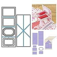 EFEG Twist Pop-up Cutting Dies, Twist Pop Slider Box Cutting Dies, Metal Cutting Dies, For DIY Scrapbooking Paper Card Making Craft,